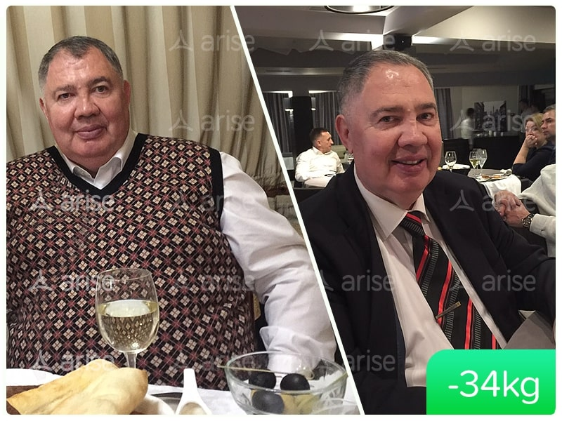Arise Lose weight Sergey -34 kg